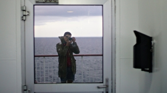 ferry_self portrait_going to oskarshamn